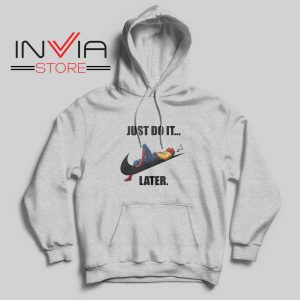 Spider Man Just Do it later Hoodie Grey