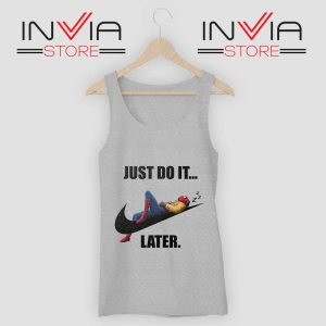 Spider Man Just Do it later Tank Top Grey