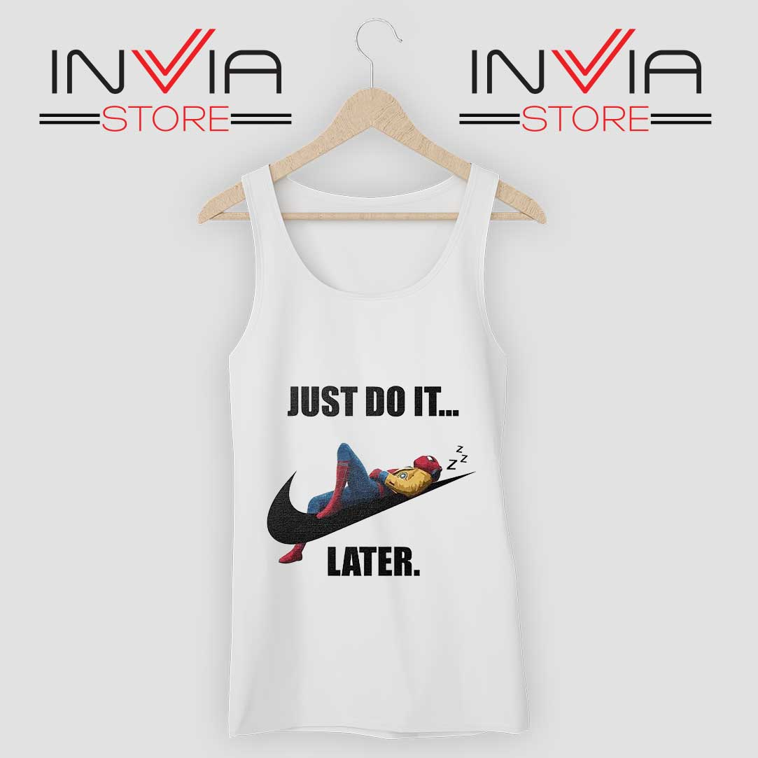 Spider-Man Just Do It Later Tshirt New Men/'s T-Shirt Tee Size S to 3XL