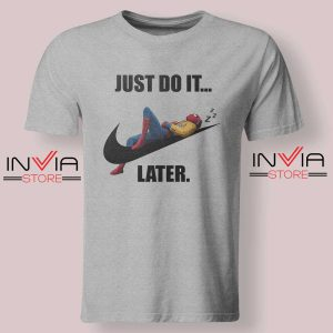 Spider Man Just Do it later Tshirt Grey