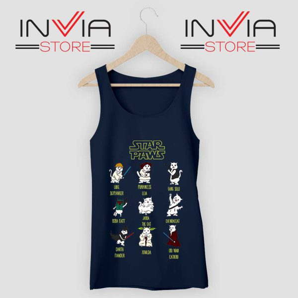 Star Wars Cat Star Paws Tank Top Navy