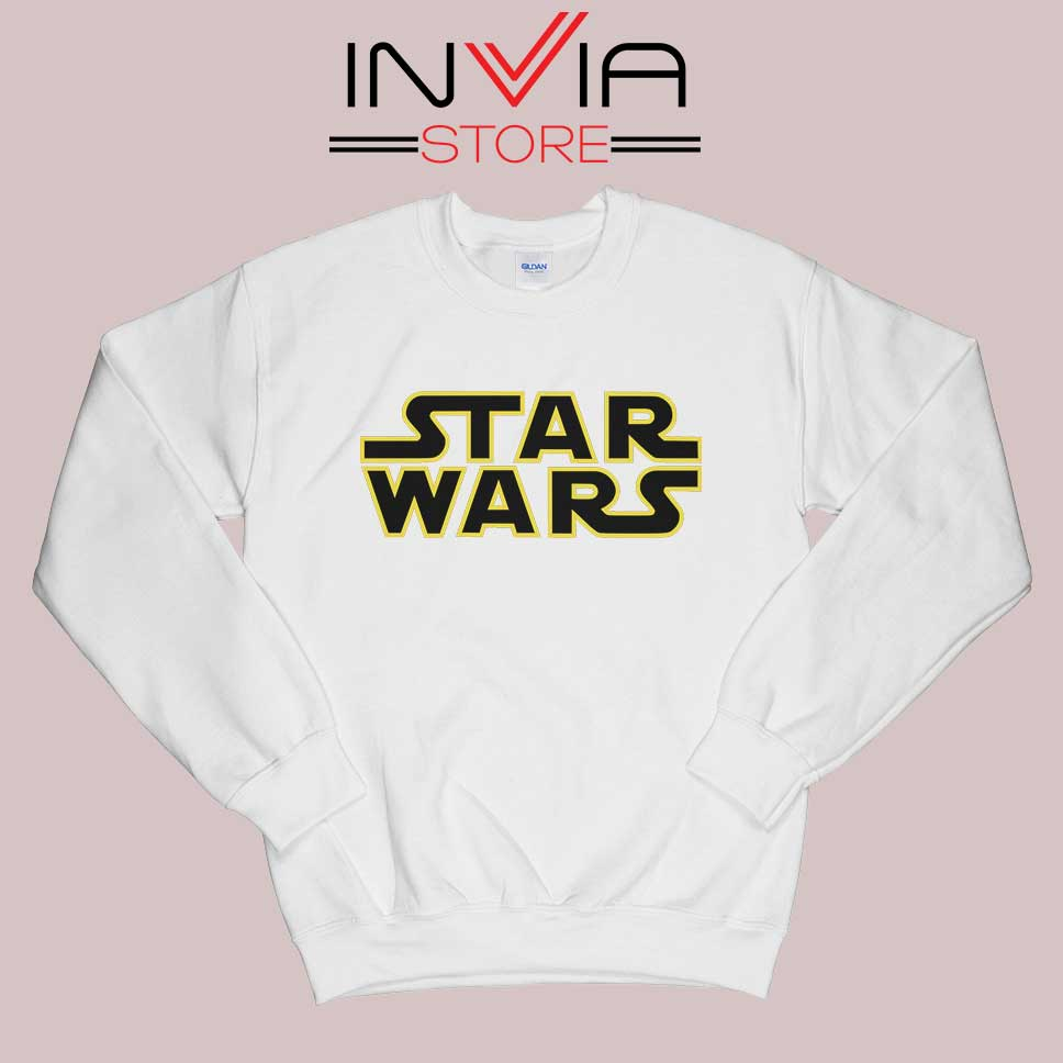 Star Wars Films Logo Sweatshirt White