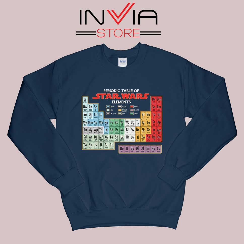 Star Wars Periodic Table Sweatshirt Navy