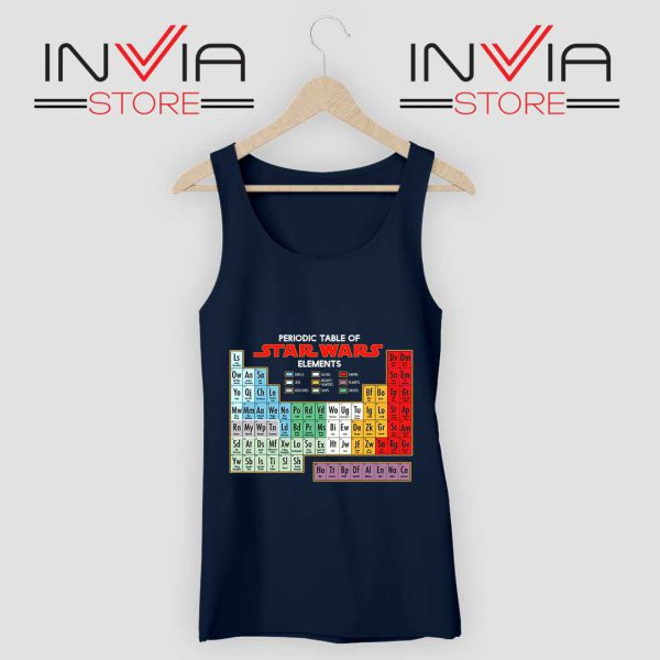 Star Wars Periodic Table Tank Top Navy