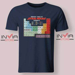 Star Wars Periodic Table Tshirt Navy