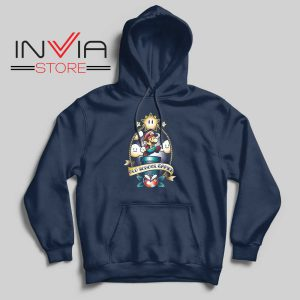 Super Old School Gamer Hoodie Navy