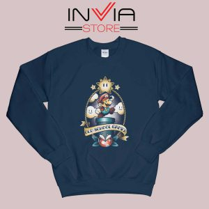 Super Old School Gamer Sweatshirt Navy