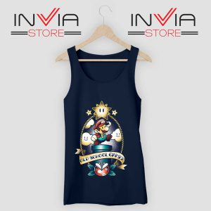 Super Old School Gamer Tank Top Navy