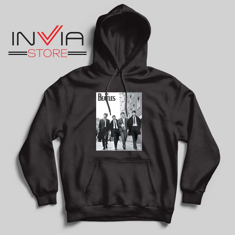 The Beatles Rock band Hoodie Black