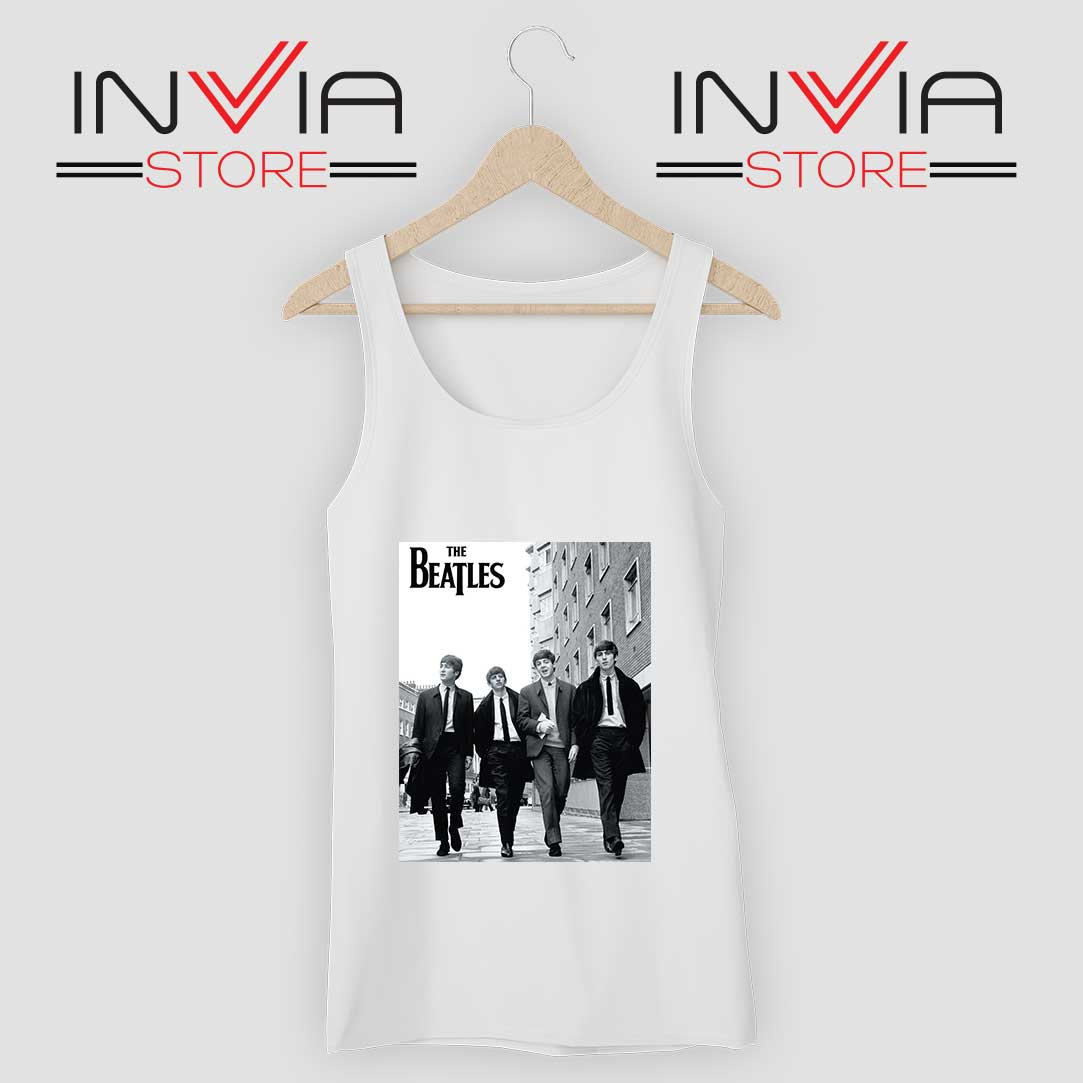 The Beatles Rock band Tank Top White