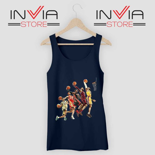The Evolution of Lebron James Tank Top Grey Navy