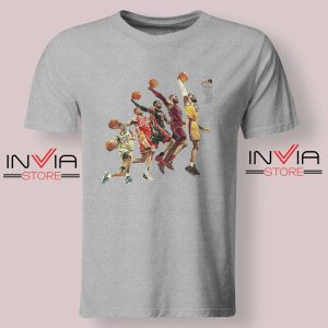 The Evolution of Lebron James Tshirt Grey