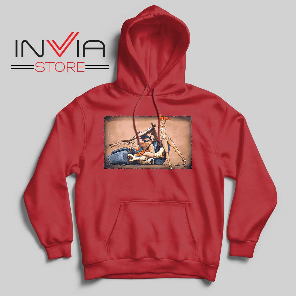 The Flintstones go Lowbrow Hoodie Red