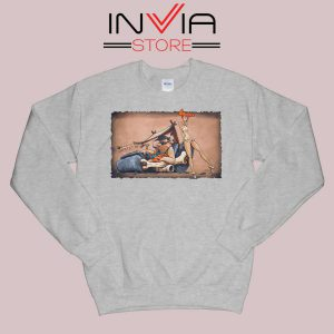 The Flintstones go Lowbrow Sweatshirt Grey