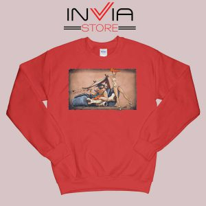 The Flintstones go Lowbrow Sweatshirt Red