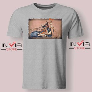 The Flintstones go Lowbrow Tshirt Grey