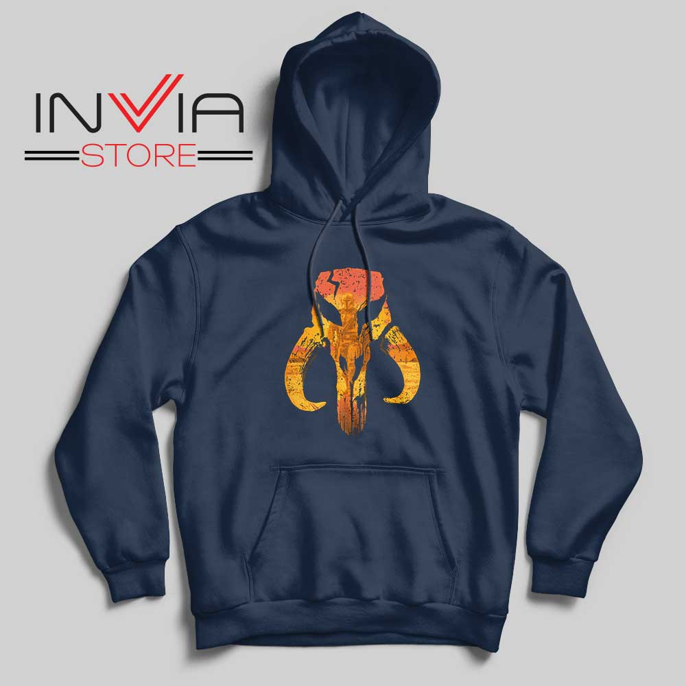 The Hunter Mandalorian Logo Hoodie Navy