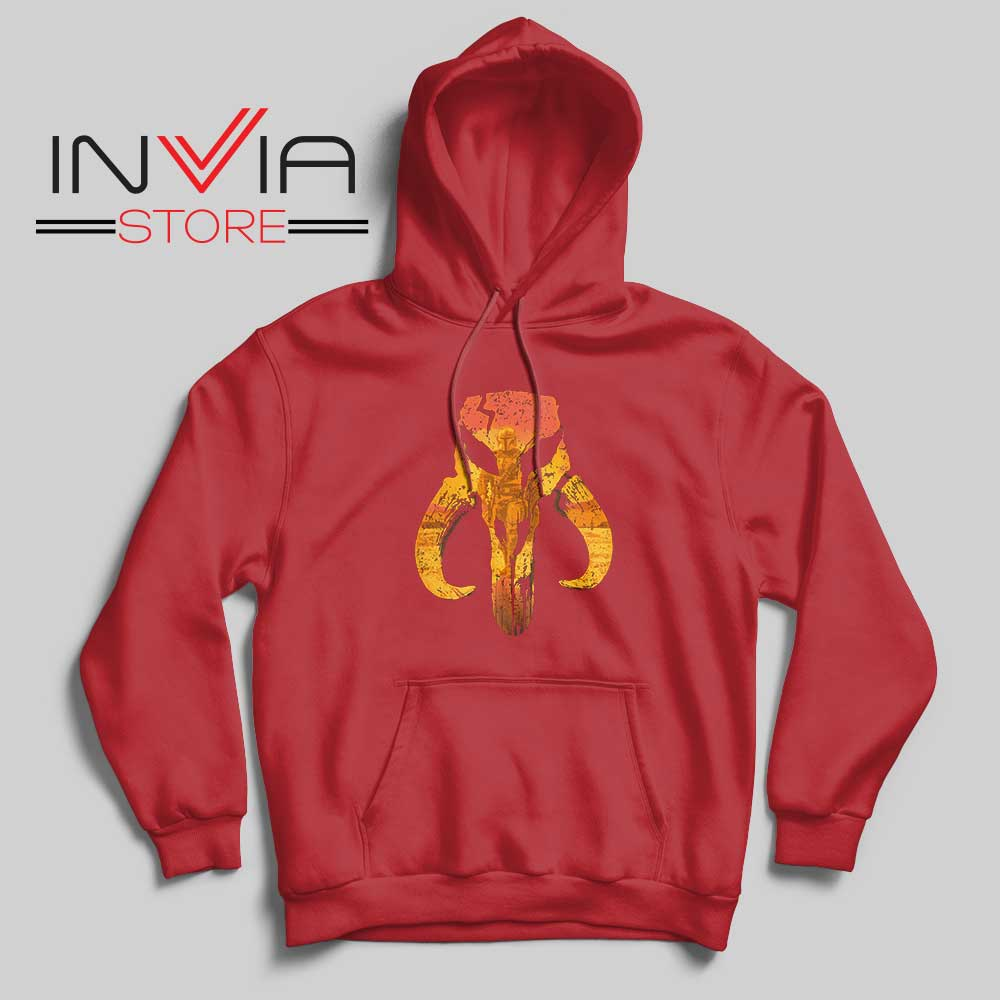 The Hunter Mandalorian Logo Hoodie Red
