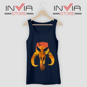 The Hunter Mandalorian Logo Tank Top Navy