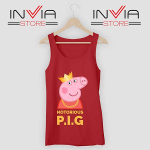 The Notorious Peppa Pig Tank Top Red
