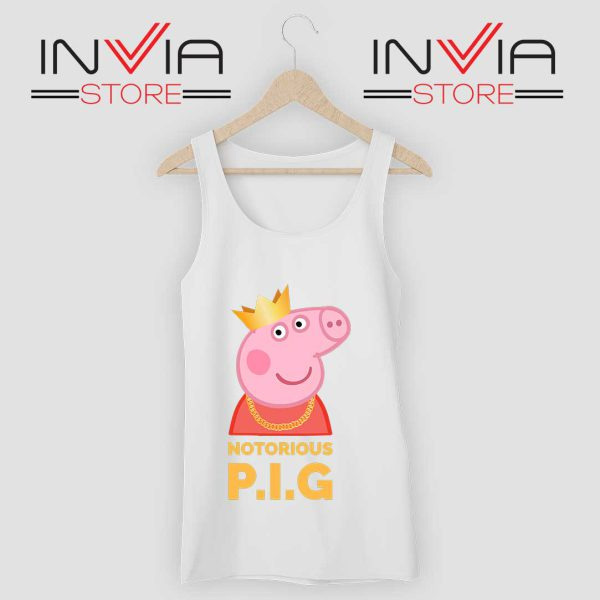 The Notorious Peppa Pig Tank Top White