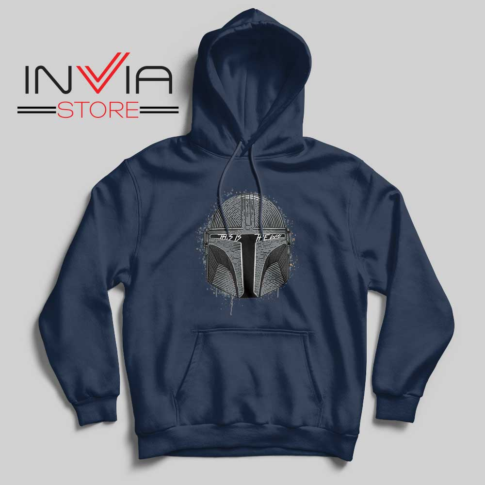 This Is The Way Helmet Mando Hoodie Navy