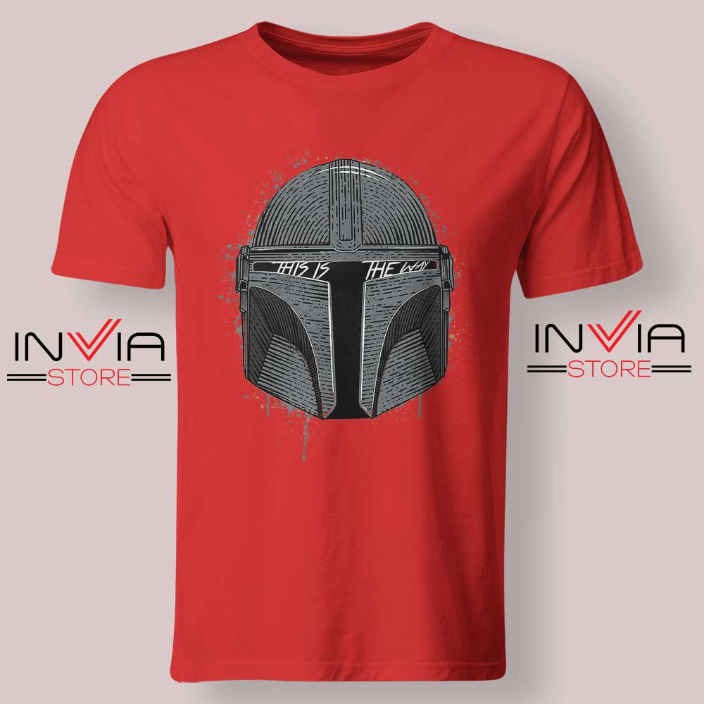 This Is The Way Helmet Mando Tshirt Red