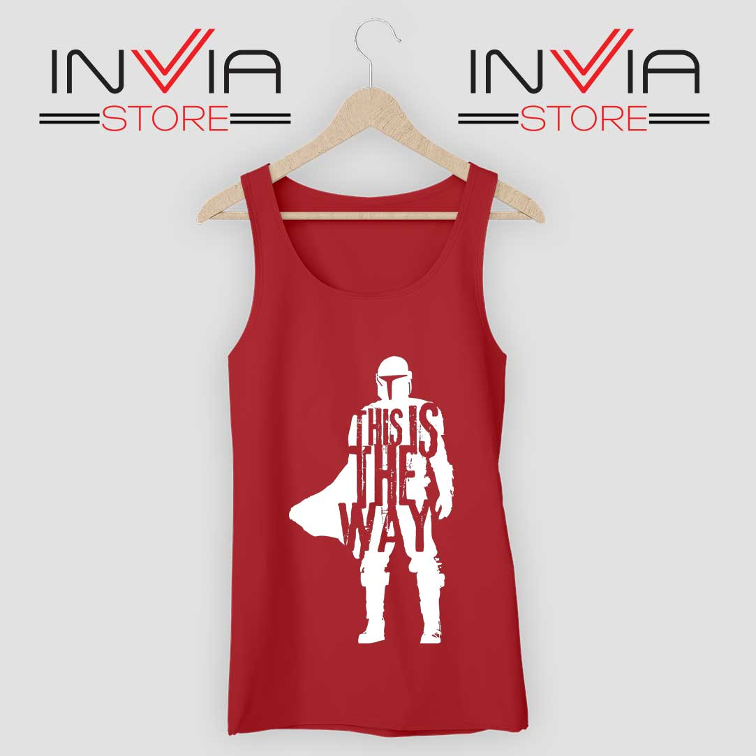 This Is The Way Quotes Tank Top Red