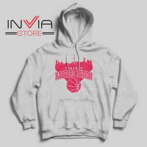 Toronto Raptors Nation Hoodie Grey
