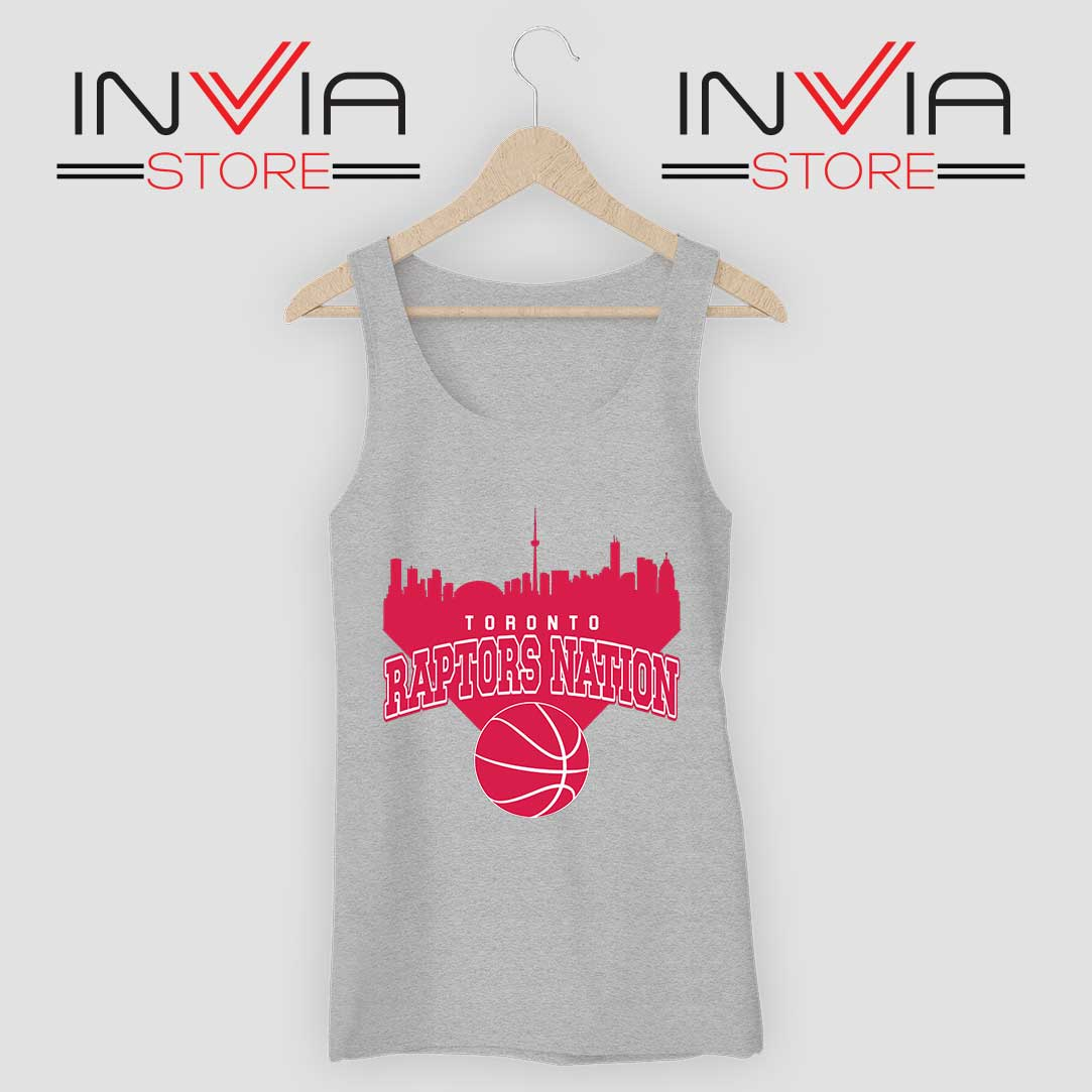 Toronto Raptors Nation Tank Top Grey