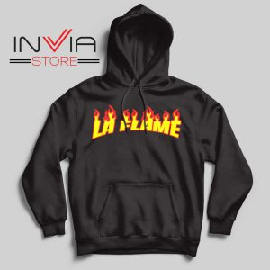 Travis La Flame Fire Hoodie Black