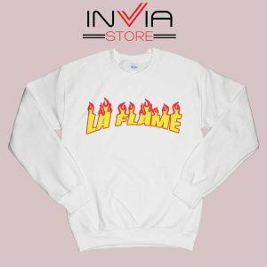 Travis La Flame Fire Sweatshirt White