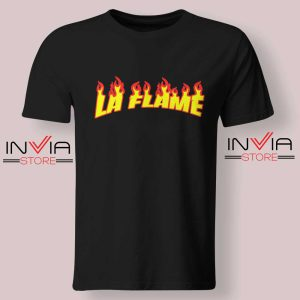 Travis La Flame Fire Tshirt Black