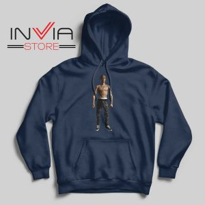 Travis Rodeo Rapper Hoodie Navy