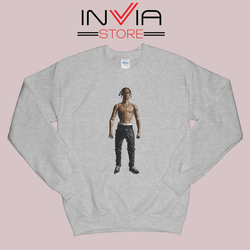 Travis Rodeo Rapper Sweatshirt Grey