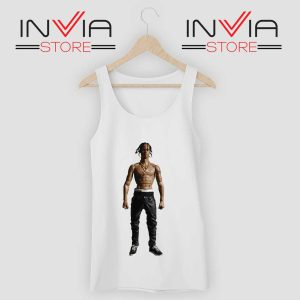 Travis Rodeo Rapper Tank Top White