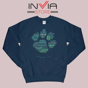 Typography Paw Ed Sheeran Sweatshirt Navy