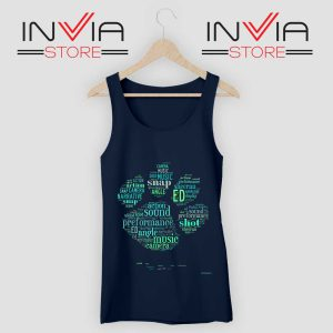 Typography Paw Ed Sheeran Tank Top Navy