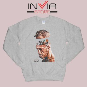 UFC Conor McGregor Head Sweatshirt Grey