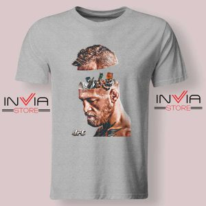 UFC Conor McGregor Head Tshirt Grey