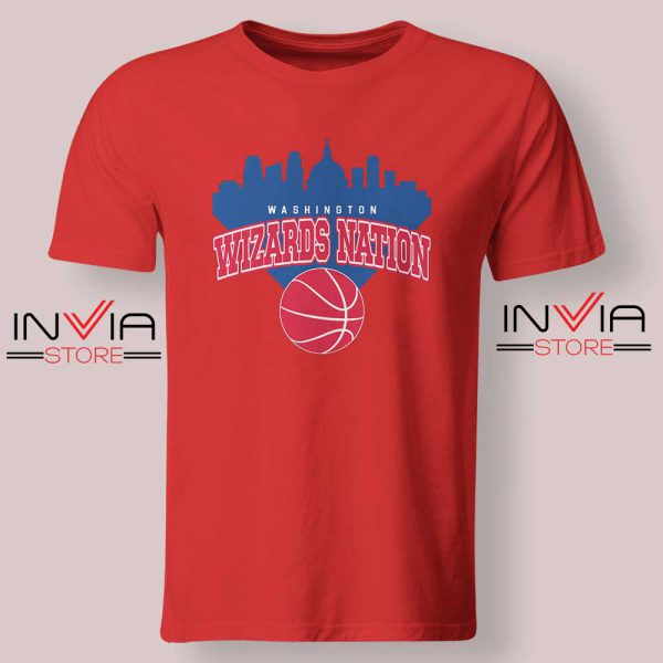 Washington Wizards Nation Tshirt Red