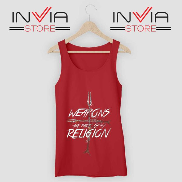 Weapons of my Religion Tank Top Red