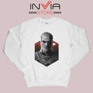 Witcher Bust Geralt Sweatshirt White