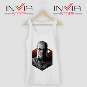 Witcher Bust Geralt Tank Top WHite