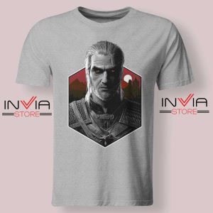 Witcher Bust Geralt Tshirt Grey