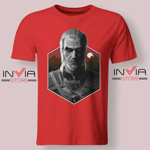Witcher Bust Geralt Tshirt Red