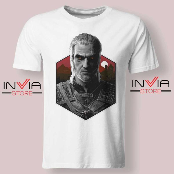 Witcher Bust Geralt Tshirt White