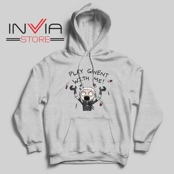 Witcher Play Gwent with Me Hoodie Grey