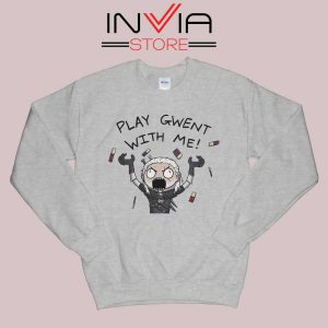 Witcher Play Gwent with Me Sweatshirt Grey