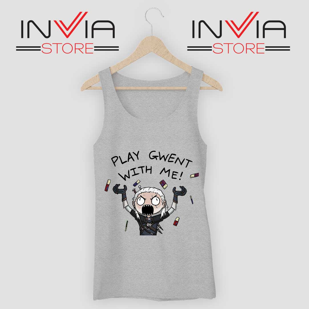 Witcher Play Gwent with Me Tank Top Grey